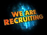 We are Recruiting - Gold 3D Words.