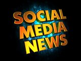 Social Media News - Gold 3D Words.