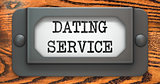 Dating Service - Concept on Label Holder.