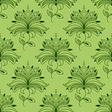 Green paisley seamless floral pattern