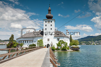 Castle on Traunsee lake