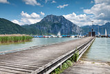 Beautiful Traunsee lake in Austria
