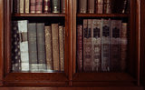 historic old books in library