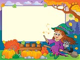 Autumn frame with Halloween theme 2