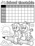 Coloring book school timetable 3