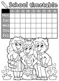 Coloring book school timetable 4