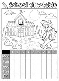 Coloring book school timetable 5