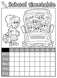 Coloring book school timetable 7