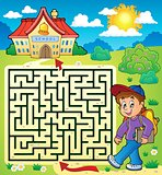 Maze 3 with schoolboy