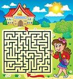 Maze 3 with schoolgirl