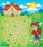 Maze 4 with schoolgirl