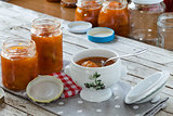 Apricots Marmalade Jars
