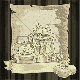 background with gifts