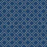 Indigo blue hand drawn seamless pattern, vector