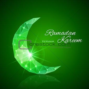 Greeting card of holy Muslim month Ramadan