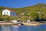 Idyllic small island village waterfront