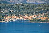Veli Iz aerial waterfront view