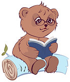 Bear reading book