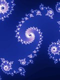 Decorative fractal spiral.