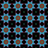 Seamless geometric pattern with a stars