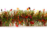 christmas tinsel garland with stars