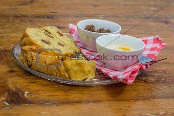 Poffert, traditional dutch cake from Groningen