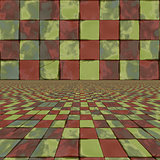 Distorted colorful checkers