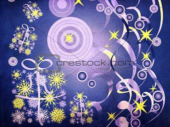 Grunge blue Christmas background