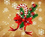 Grunge christmas candy cane background