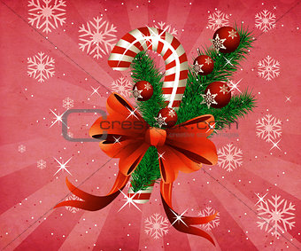 Grunge christmas candy cane pink background