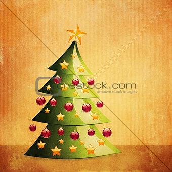 Grunge Christmas tree interior
