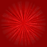 Red background with abstract rays