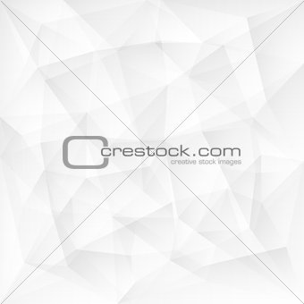 Abstract white triangle polygonal background
