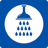 blue shower head icon