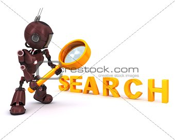 Android searching with magnifying glass
