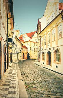 Prague street, czech republic.