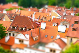 Red roofs of Prague, Czech Republic