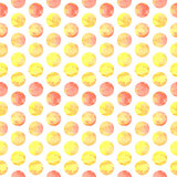 Aquarelle circle, vector vintage seamless pattern