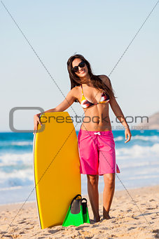 Female bodyboarder