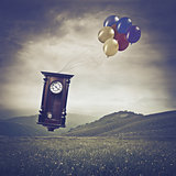 Grandfather Clock in the Sky