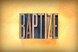 Baptize Letterpress