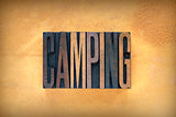 Camping Letterpress