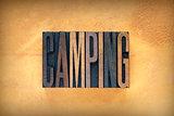 Camping Letterpress
