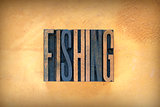 Fishing Letterpress