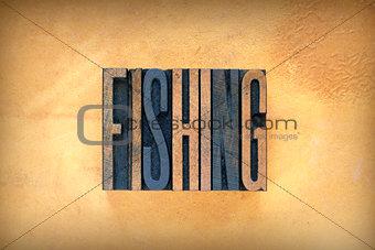 Fishing Letterpress