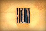 Holy Letterpress