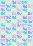 Cats pattern in pastel colors