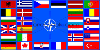 flags of the NATO countries