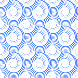 Seamless pattern with spiral circle elements.
