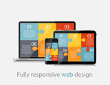 Fully Responsive Web Design Concept Vector Illustration